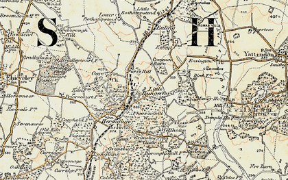 Old map of Hermitage in 1897-1900