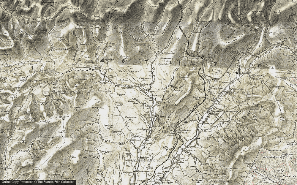Old Map of Historic Map covering Toftholm Sike in 1901-1904