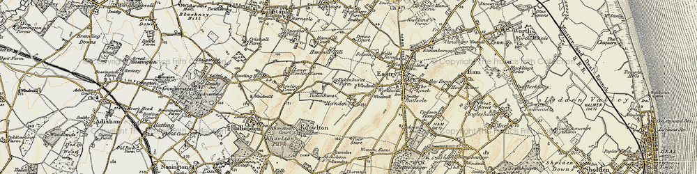 Old map of Tickenhurst in 1898-1899