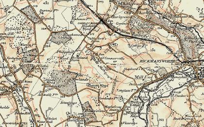 Old map of Heronsgate in 1897-1898