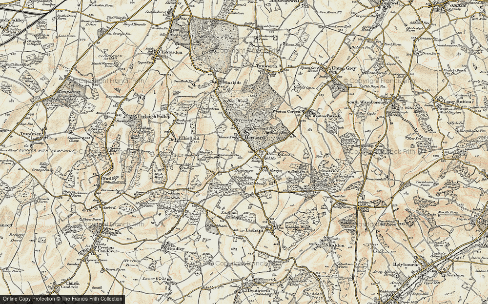 Old Map of Herriard, 1897-1900 in 1897-1900