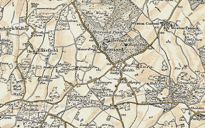 Old map of Herriard in 1897-1900