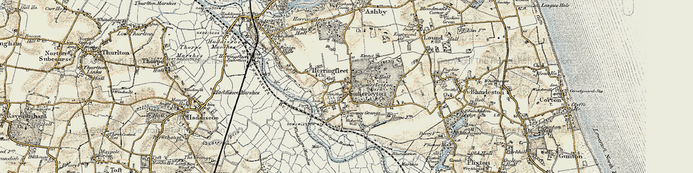 Old map of Wicker Well in 1901-1902