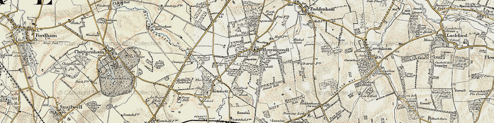 Old map of Woodlands in 1901
