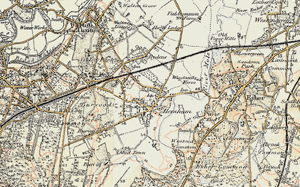 Old map of Hersham in 1897-1909