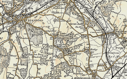 Old map of Balls Wood in 1898