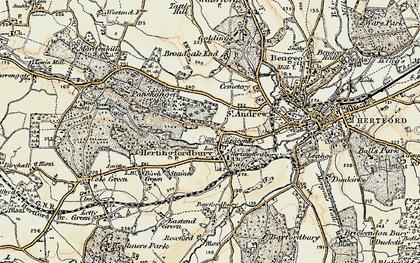 Old map of Hertingfordbury in 1898
