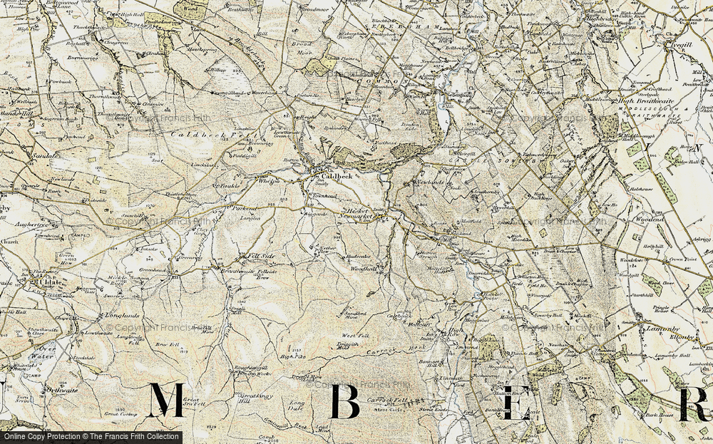 Old Map of Historic Map covering Wood Hall in 1901-1904