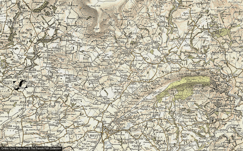 Old Map of Historic Map covering Leach Ho in 1903-1904