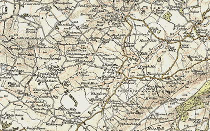 Old map of Astley Ho in 1903-1904