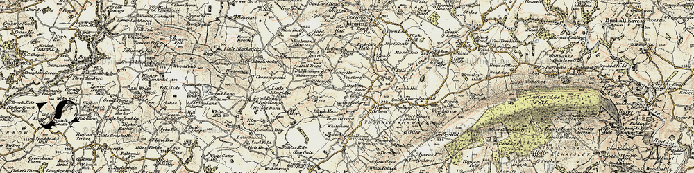 Old map of Leach Ho in 1903-1904
