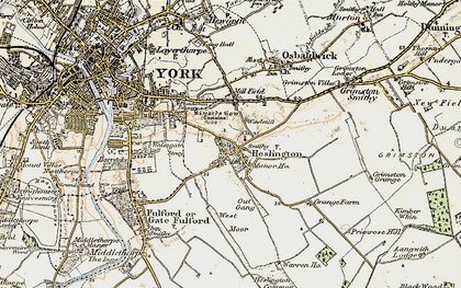 Old map of Heslington in 1903