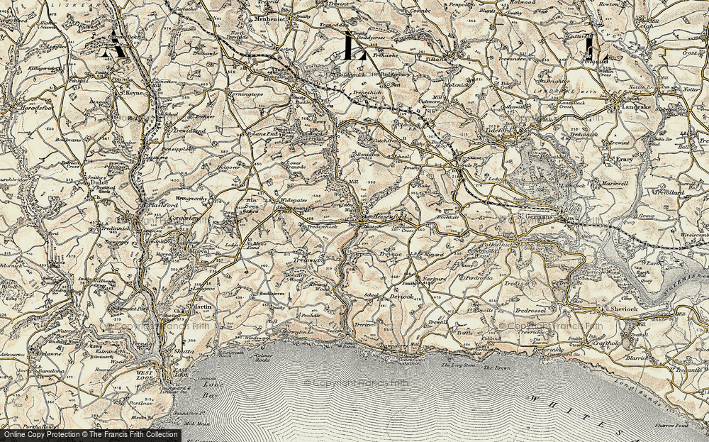 Old Map of Historic Map covering Bake Wood in 1900