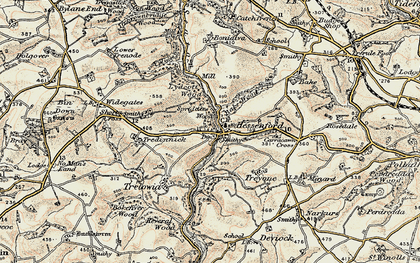 Old map of Bake Wood in 1900