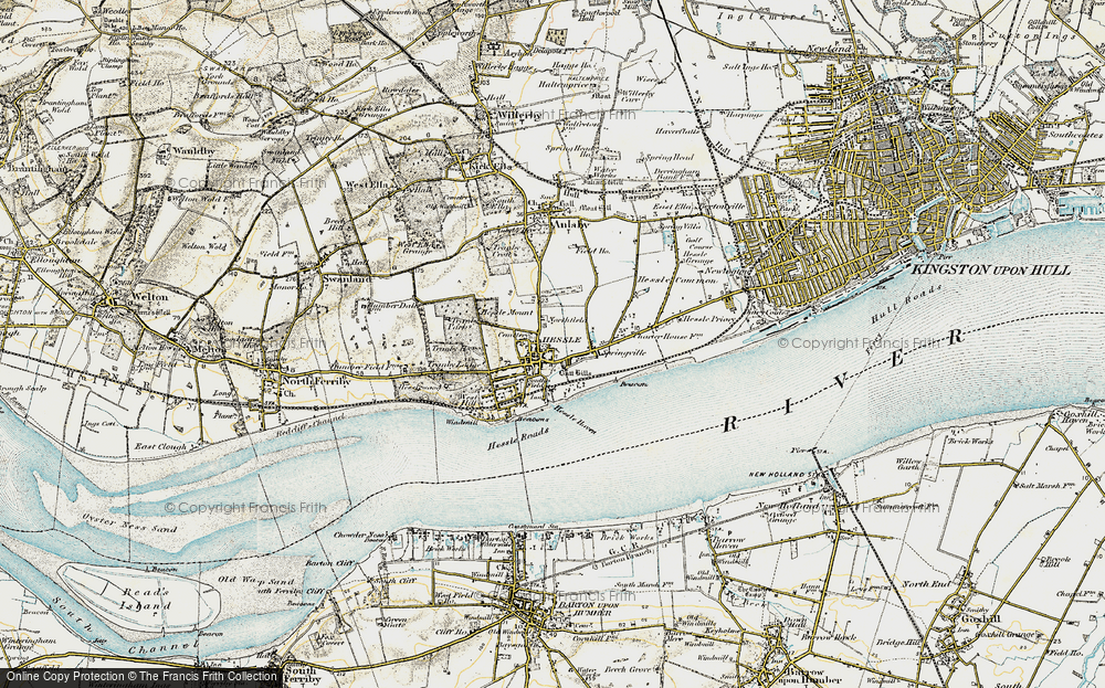 Old Map of Hessle, 1903-1908 in 1903-1908