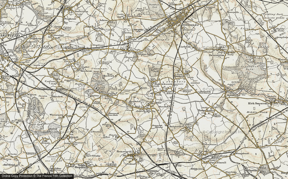 Old Map of Hessle, 1903 in 1903