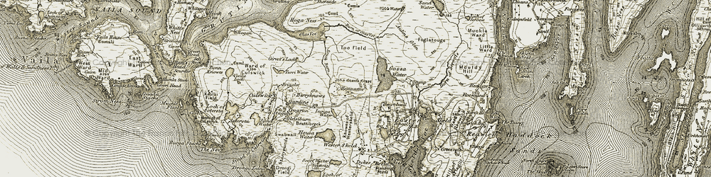 Old map of Too Field in 1911-1912