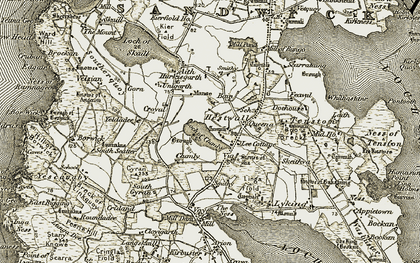 Old map of Yeldadee in 1912
