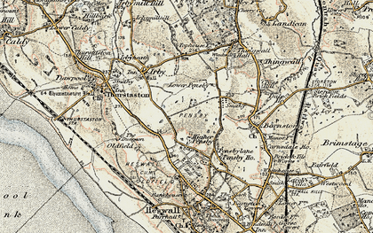 Old map of Heswall in 1902-1903