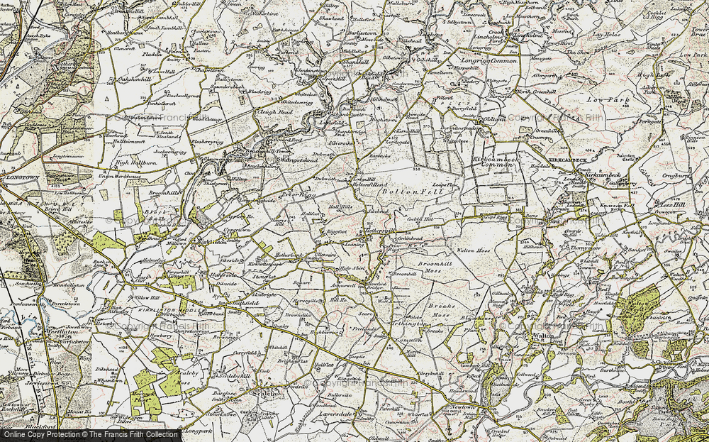 Old Map of Historic Map covering Leaps Rigg in 1901-1904