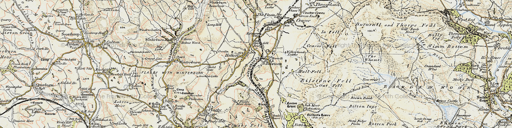 Old map of Willowlands Laithe in 1903-1904