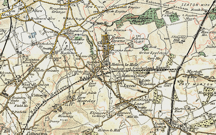 Old map of Hetton-Le-Hole in 1901-1904