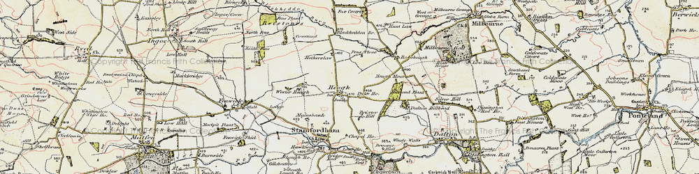 Old map of Westerheugh in 1901-1903
