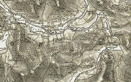 Old map of White Hill in 1908-1909