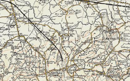 Old map of Hever in 1898-1902
