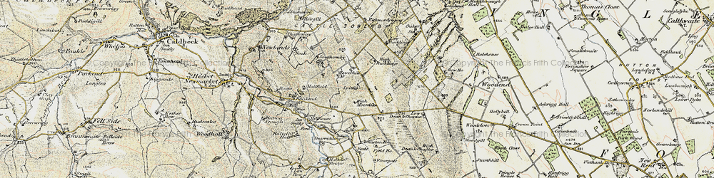 Old map of Wharton Ho in 1901-1904