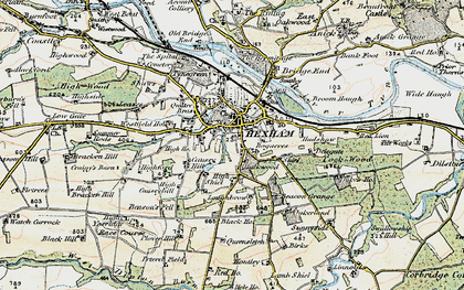 Old map of Hexham in 1901-1904
