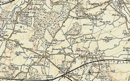 Old map of Hextable in 1897-1898