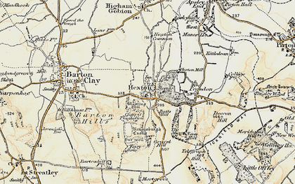 Old map of Hexton in 1898-1899