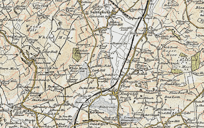 Old map of Admergill Pasture in 1903-1904