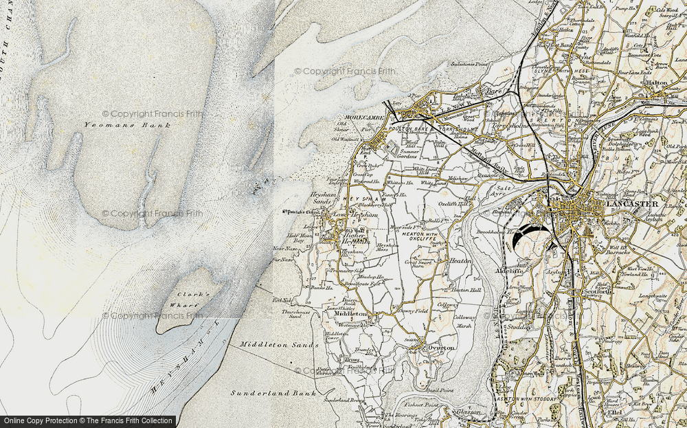 Old Map of Heysham, 1903-1904 in 1903-1904