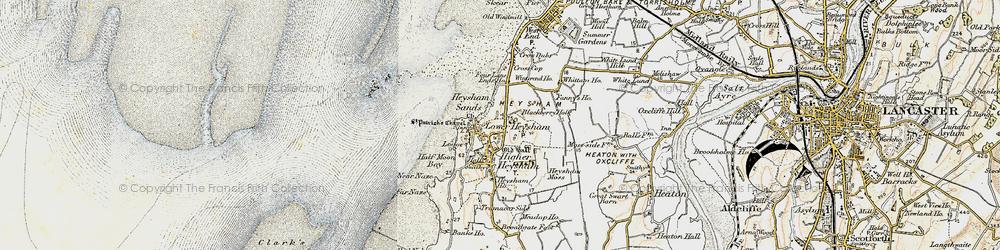 Old map of Heysham in 1903-1904