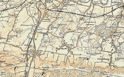 Old map of Heyshott in 1897-1900