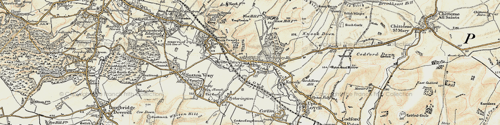 Old map of Heytesbury in 1897-1899
