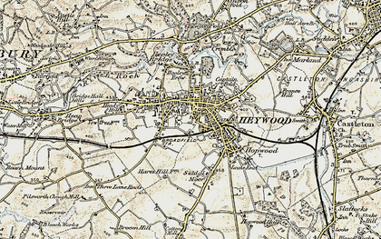 Old map of Heywood in 1903