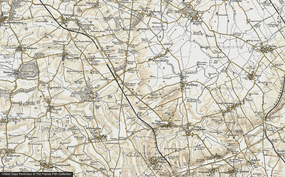 Old Map of Historic Map covering Lincoln Lodge in 1902-1903