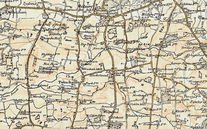 Old map of Hickstead in 1898