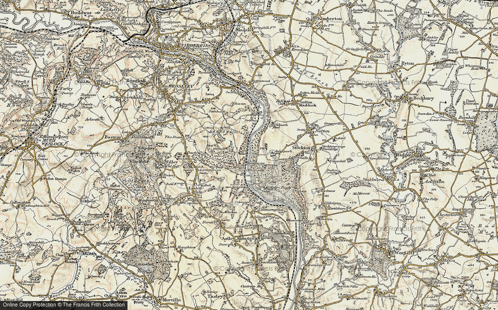 Old Map of Historic Map covering Bagley's Rough in 1902