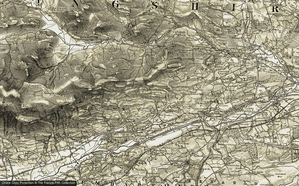 Old Map of Historic Map covering Linns in 1904-1907