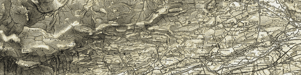 Old map of Tomtain in 1904-1907