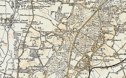 Old map of Whitehouse Plain in 1897-1898