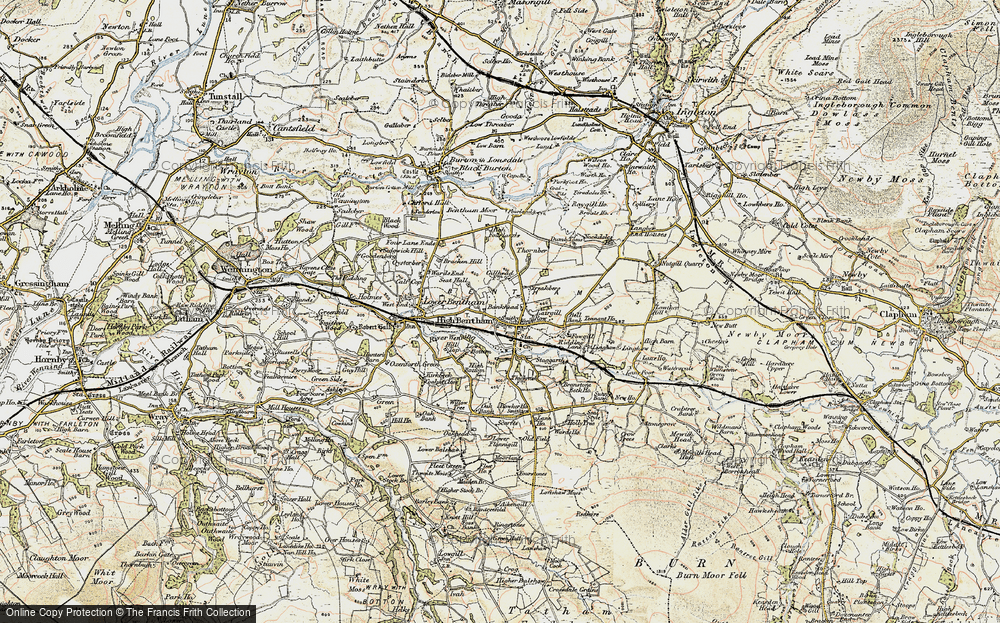 Old Map of High Bentham, 1903-1904 in 1903-1904