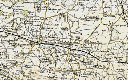Old map of High Bentham in 1903-1904
