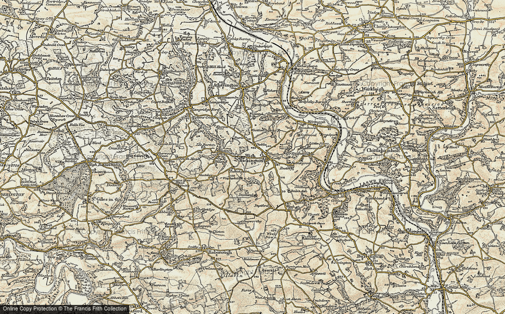 Old Map of Historic Map covering Bale's Ash in 1899-1900