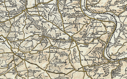 Old map of Bale's Ash in 1899-1900