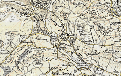 Old map of Agden Resr in 1903